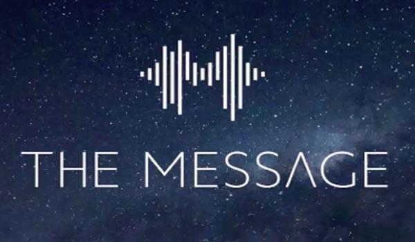 Das Logo des Podcasts von 'The Message'.