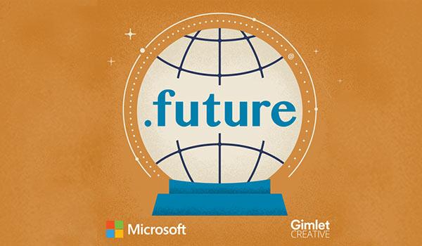 Das Logo des '.future'-Podcasts.