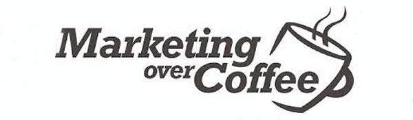 Das Logo des Podcasts 'Marketing Over Coffee'.