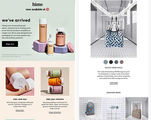 E-Mails mit Fotos im Marken-Design.