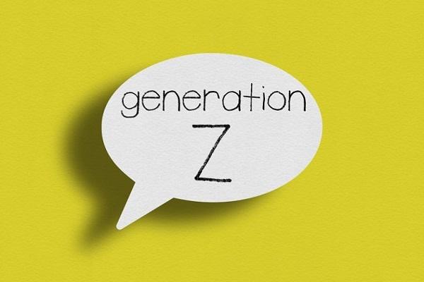Eine Sprechblase mit den Worten 'Generation Z'.