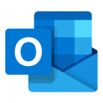 The logo of Outlook.