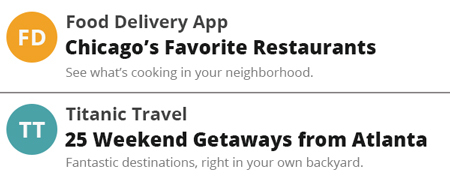 Cities in email subject lines.