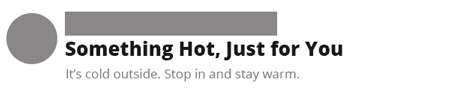 Unbranded email subject line.