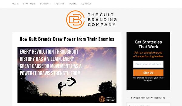 Der Blog von 'Cult Branding'.