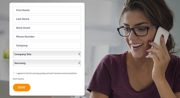 Ein Formular für E-Mail-Abonnements im Detail.