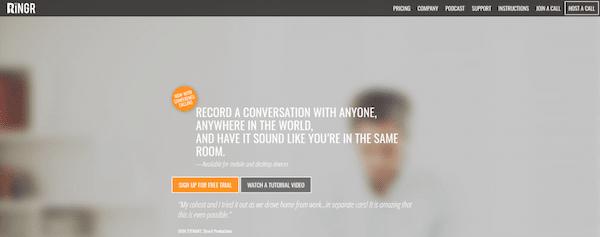 RINGR eignet sich hervorragend für Podcast-Interviews.