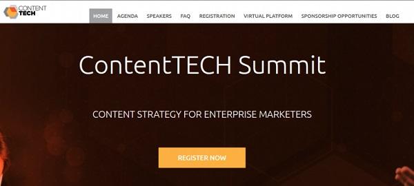 Die Webseite von ContentTech Summit.