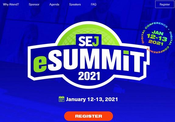 Die Webseite des SEJ eSummit.