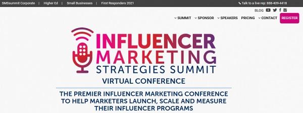 Die Webseite von Influencer Marketing.