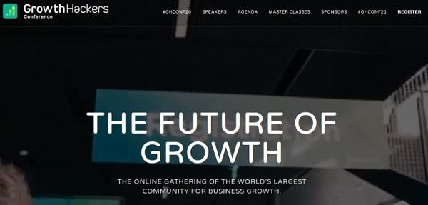 Die Webseite von Growth Hackers.