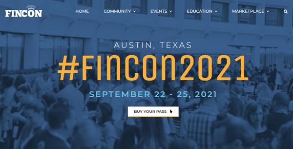 Die Webseite der FinCon.