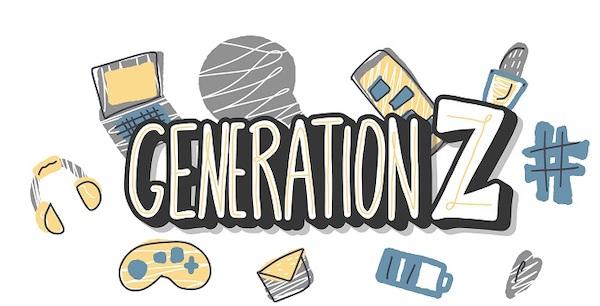 Eine Zusammenstellung von Gegenständen der Generation Z.