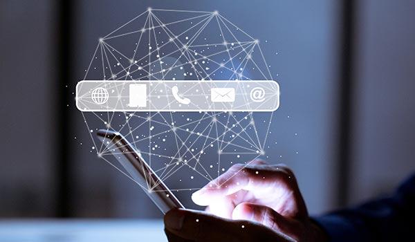 Ein Smartphone mit digitaler Technologie.