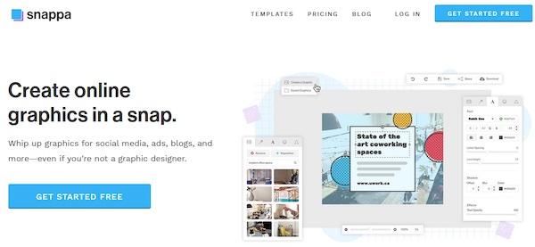 Die Webseite von Snappa.