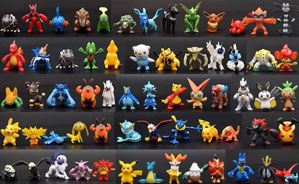 Pokemon action figures.