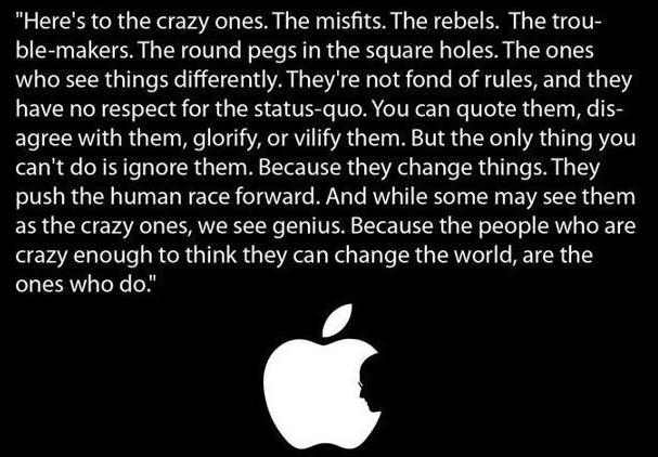 The Apple manifesto.