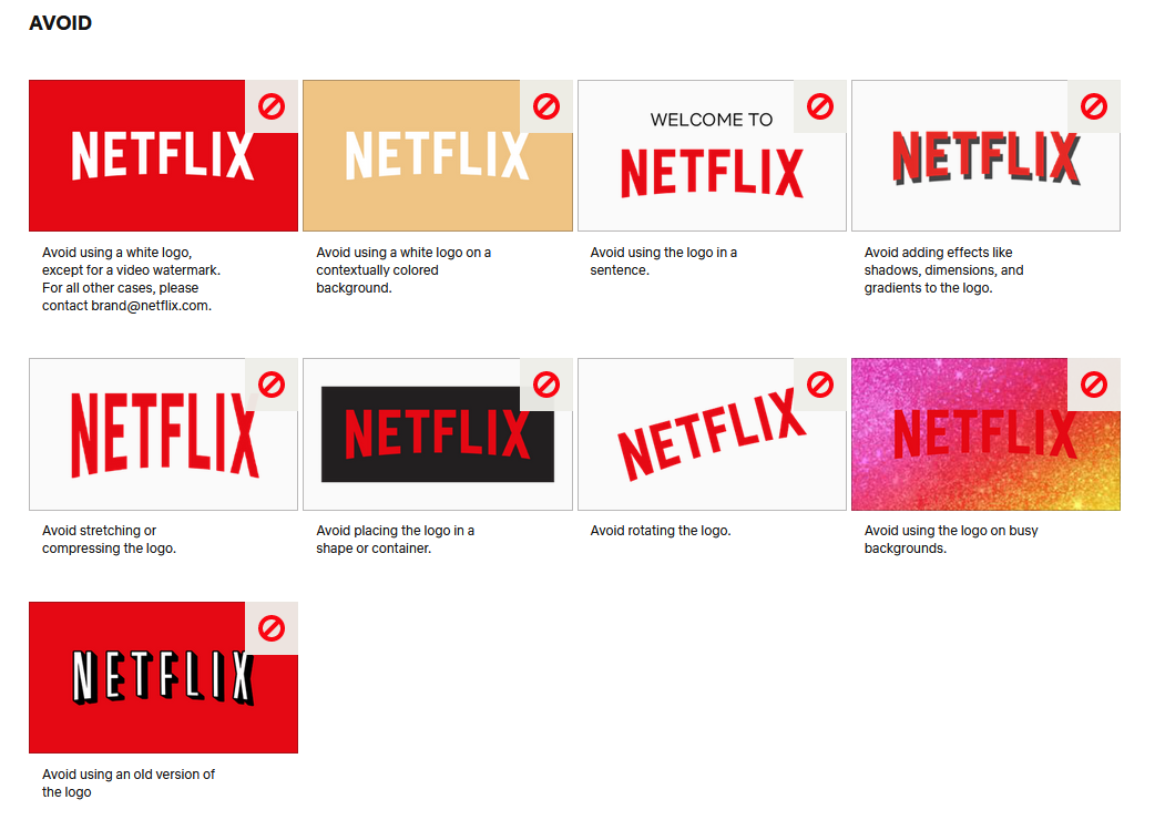 The Netflix logo in a guide.