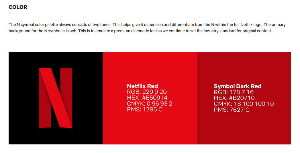 The Netflix logo on an instructive guide.