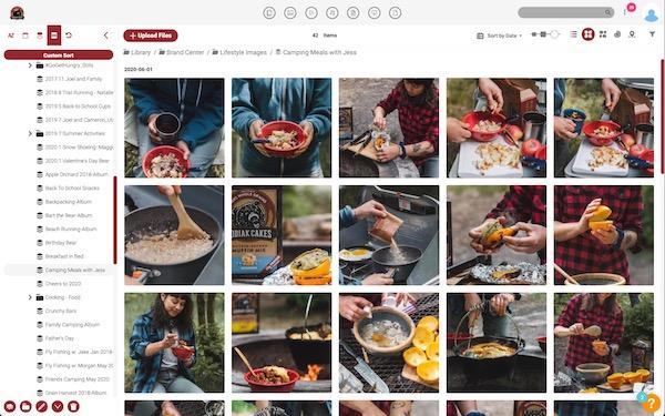 Kodiak Cakes Canto library screenshot