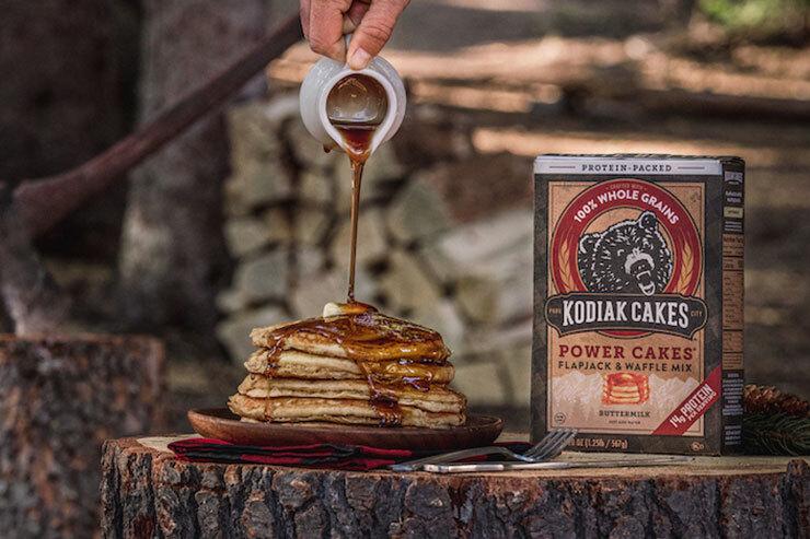 Kodiak Cakes pancakes and syrup