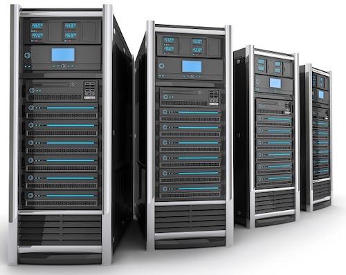 four computer servers