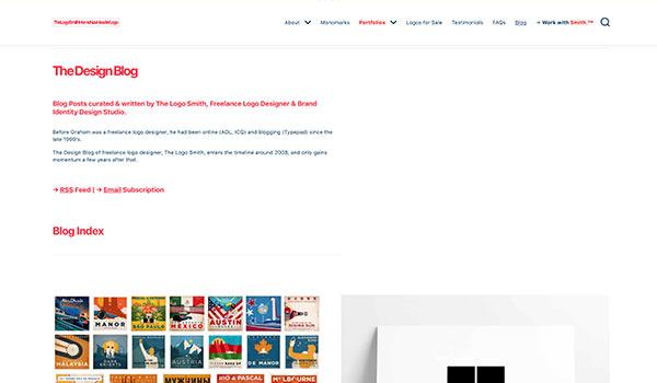 Die Webseite von Logo Smith.