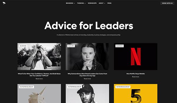 Die Webseite von Motto.