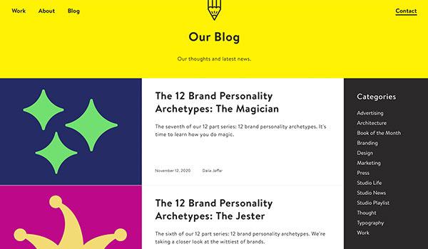 Die Webseite von Glorious Creative.
