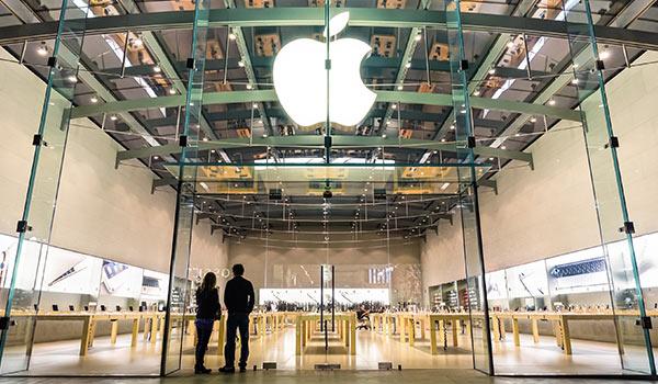 Eine Filiale von Apple.