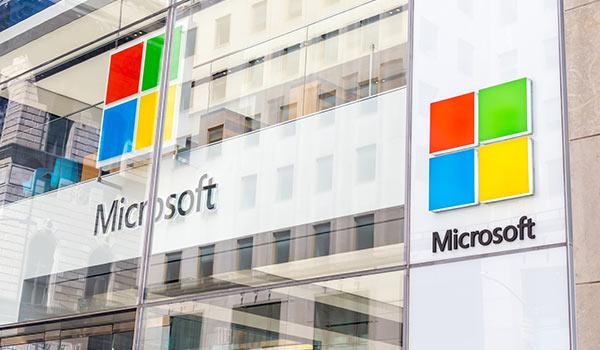 Ein Gebäude von Microsoft.
