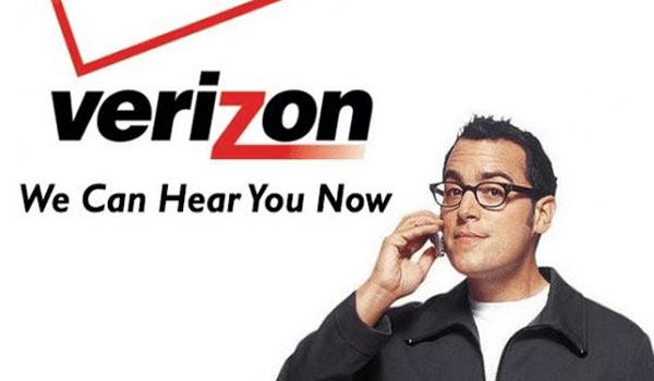 Eine Werbung von Verizon.