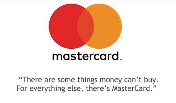 Eine Werbung von Mastercard.
