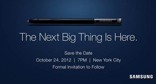 Eine Werbung von Samsung.