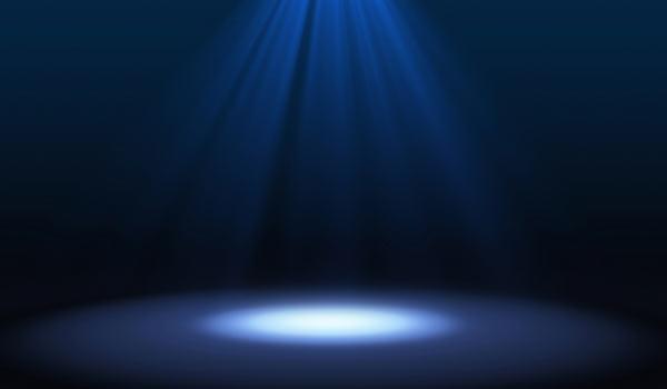 Ein Scheinwerferlicht.