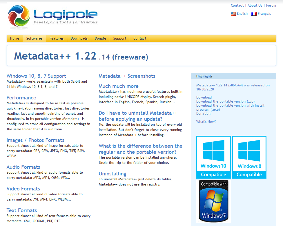The Metadata++ webpage.