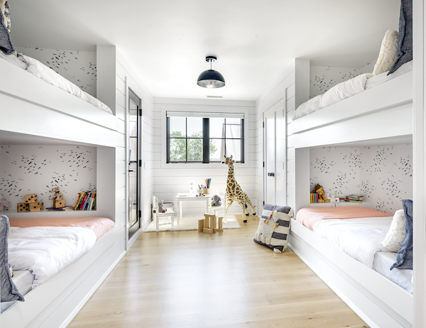 Bunk room with four beds