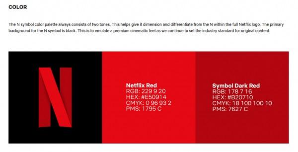 Das Netflix-Logo auf einer Anleitung.