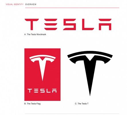 Die Tesla Styleguide-Vorlage.
