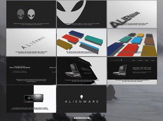 Die Alienware Styleguide-Vorlage.