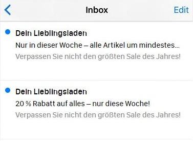 E-Mail-Betreffzeilen werden auf schmalen Bildschirmen abgeschnitten.