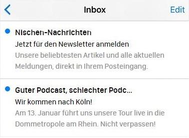 E-Mail-Betreffzeilen mit Handlungsaufforderungen.