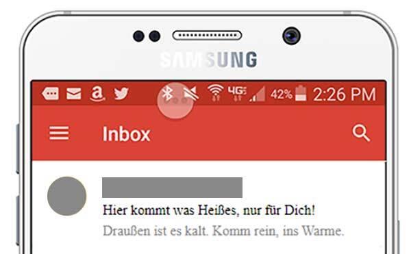 Eine E-Mail-Betreffzeile ohne Markennamen.
