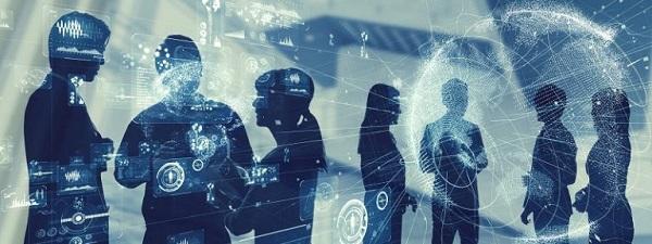 Eine Gruppe digitaler Kunden.
