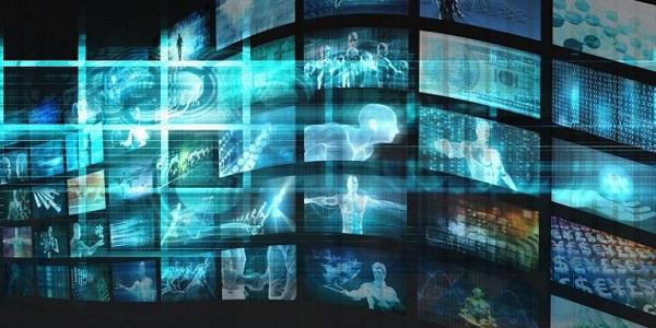 Eine Zusammenstellung digitaler Bildschirme.