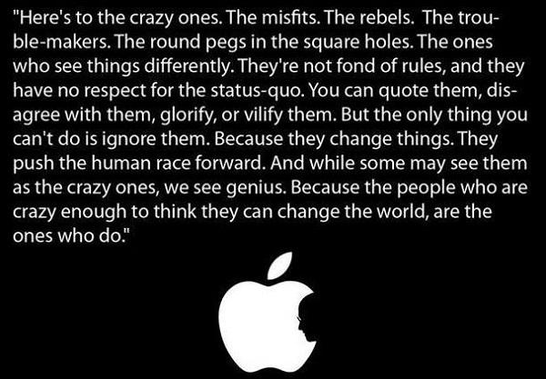 Das Markenmanifest von Apple.