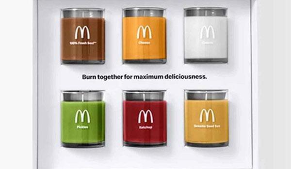 Die Duftkerzen-Kampagne von McDonald's.