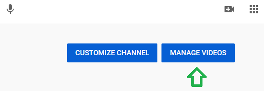 """The """"Manage Videos"""" button."""