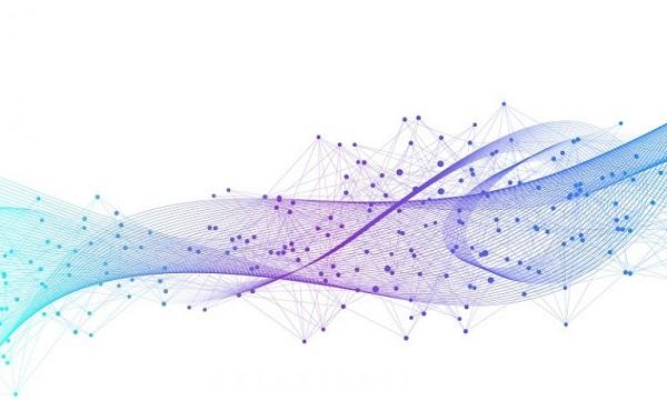 Ein Diagramm aus Datenpunkten, das eine Welle darstellt.