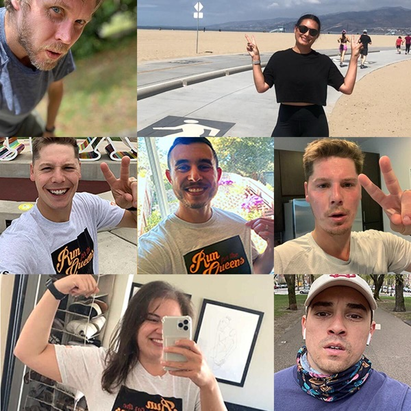 Collage of selfies from the Canto team